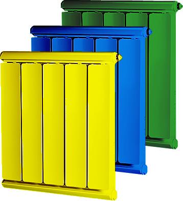 Цветные радиаторы Алберг